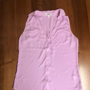 Express Purple Button Down Top